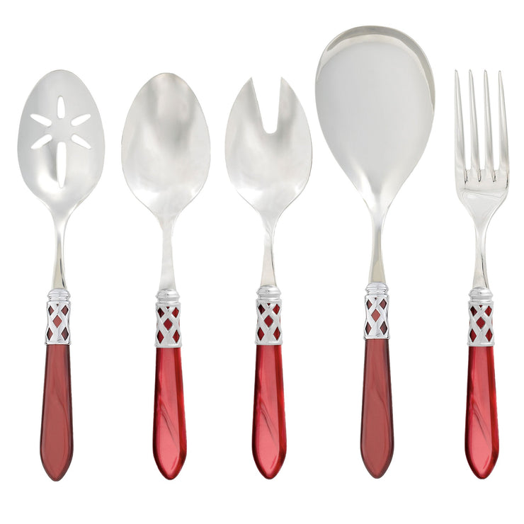 Aladdin Brilliant Red Classic Serving Set by VIETRI