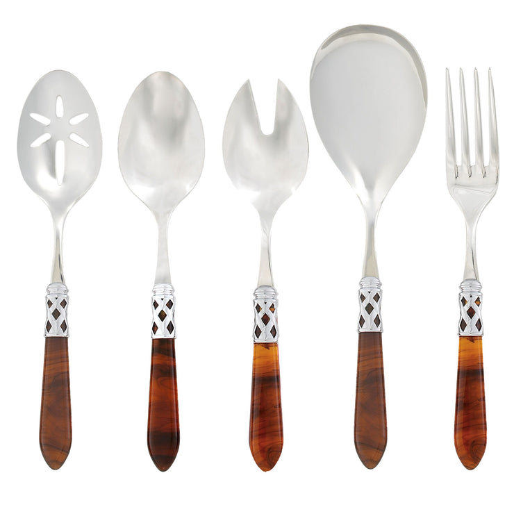 Aladdin Brilliant Tortoiseshell Classic Serving Set by VIETRI