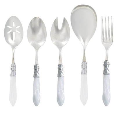Aladdin Brilliant White Classic Serving Set by VIETRI