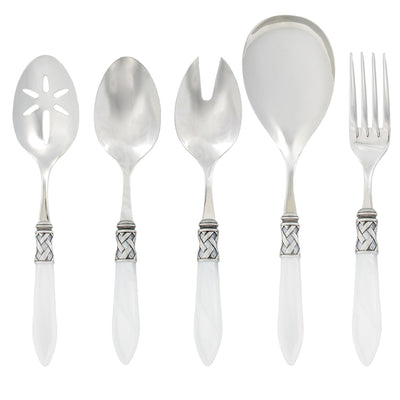 Aladdin Antique White Classic Serving Set by VIETRI