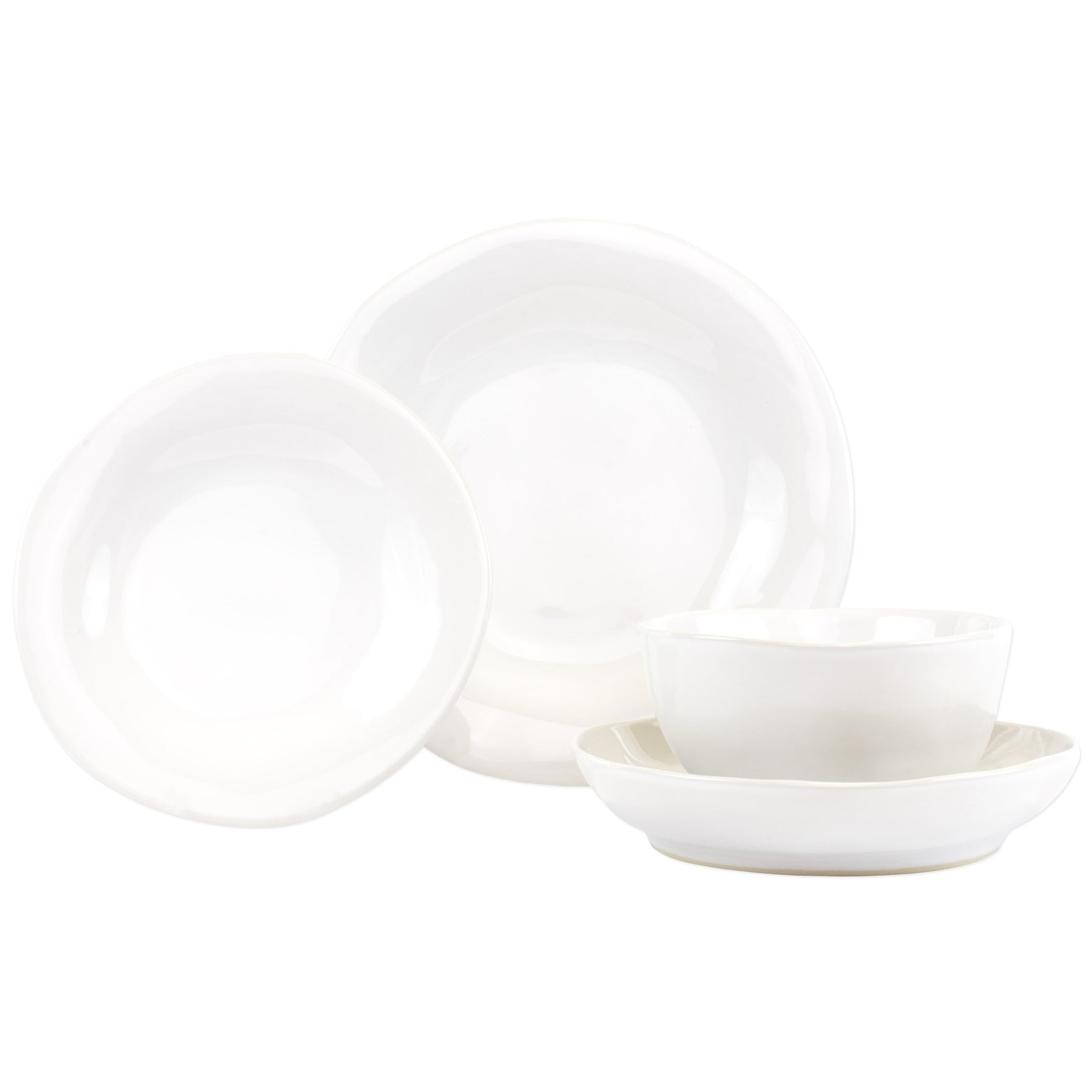 Aurora Snow Four Piece Place Setting Vietri