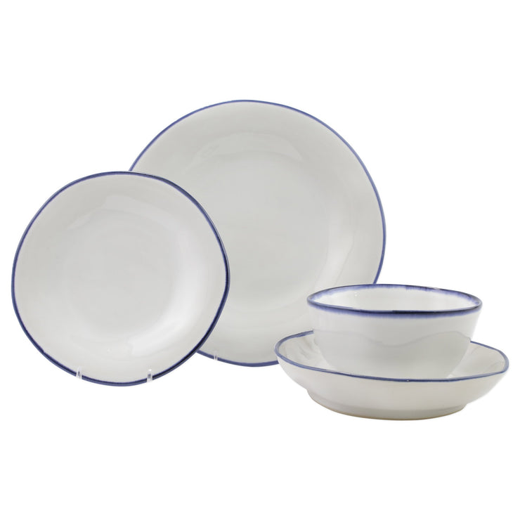Aurora Edge Four-Piece Place Setting by VIETRI