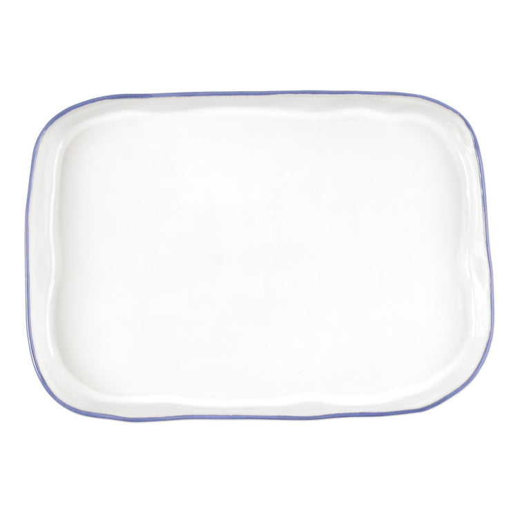 Aurora Edge Rectangular Platter by VIETRI