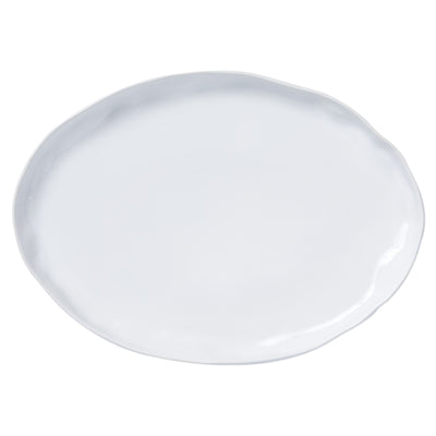 Aurora Snow Large Oval Platter by VIETRI