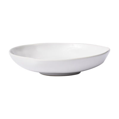 Aurora Snow Shallow Bowl by VIETRI