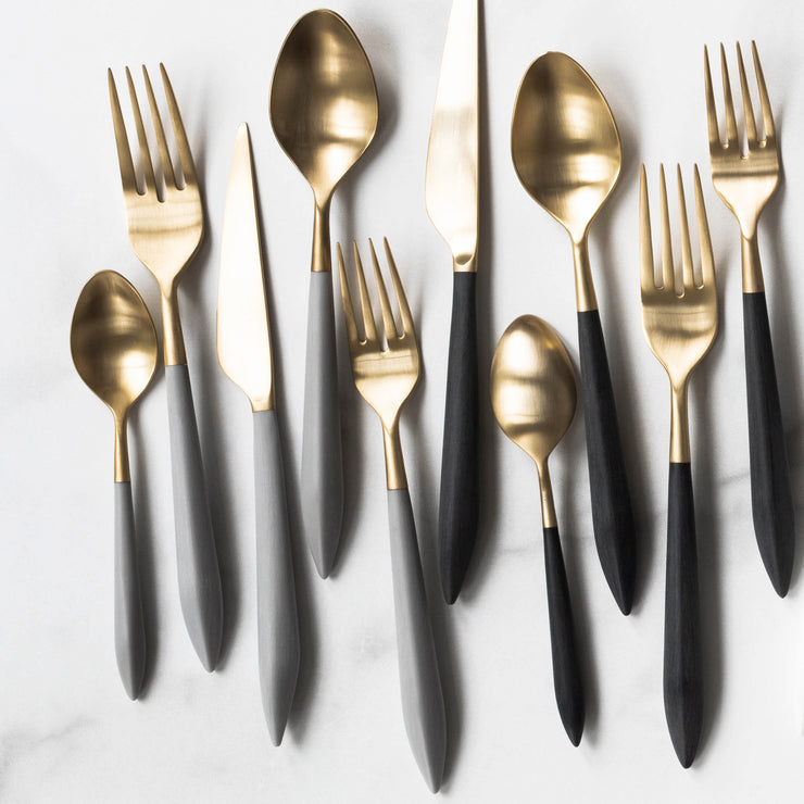 Ares Oro & Light Gray Five-Piece Place Setting