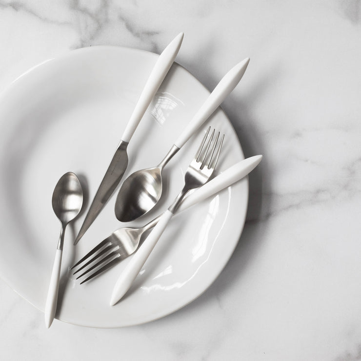 Ares Argento & White Five-Piece Place Setting