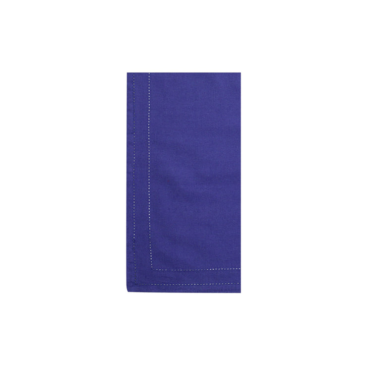 Cotone Linens Cobalt Napkins with Double Stitching by VIETRI