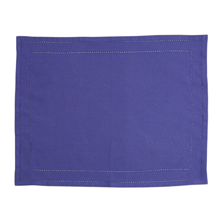 Cotone Linens Cobalt Placemats with Double Stitching by VIETRI