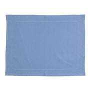 Cotone Linens Cornflower Blue Placemats with Double Stitching by VIETRI
