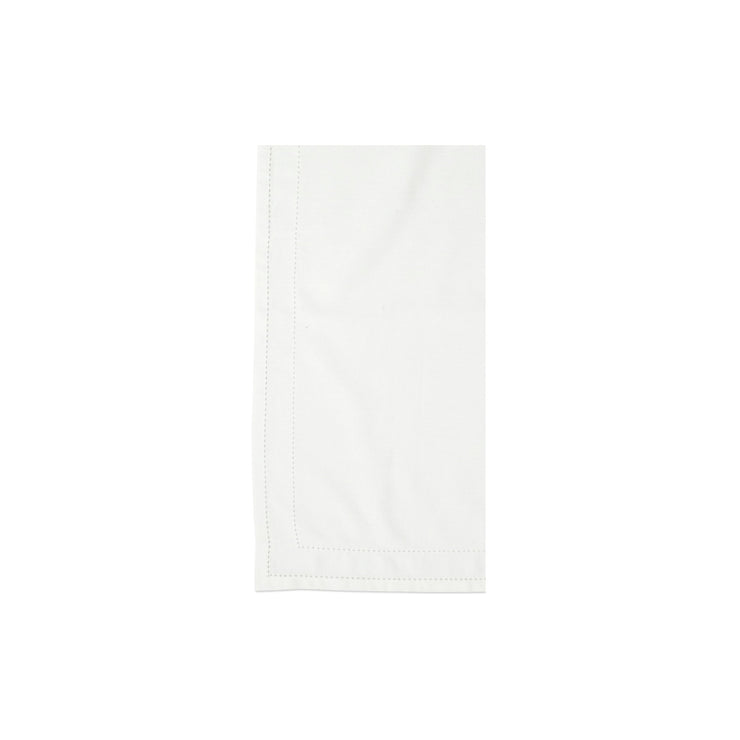 Cotone Linens Ivory Napkins with Double Stitching by VIETRI