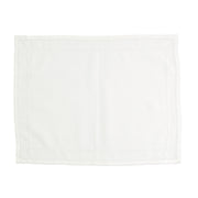 Cotone Linens Ivory Placemats with Double Stitching by VIETRI