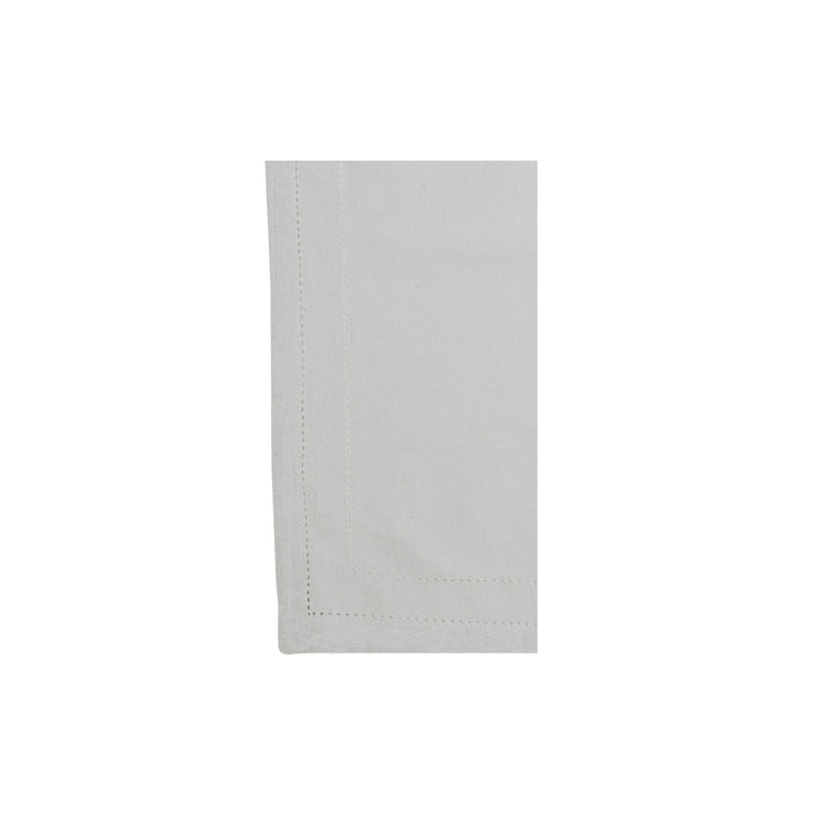 Cotone Linens Light Gray Napkins with Double Stitching by VIETRI