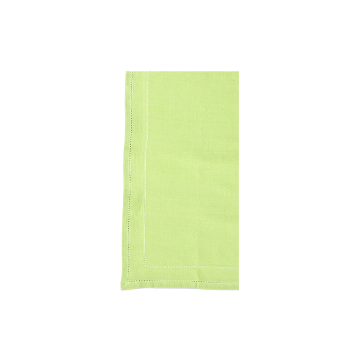 Cotone Linens Pistachio Napkins with Double Stitching by VIETRI