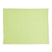 Cotone Linens Pistachio Placemats with Double Stitching by VIETRI