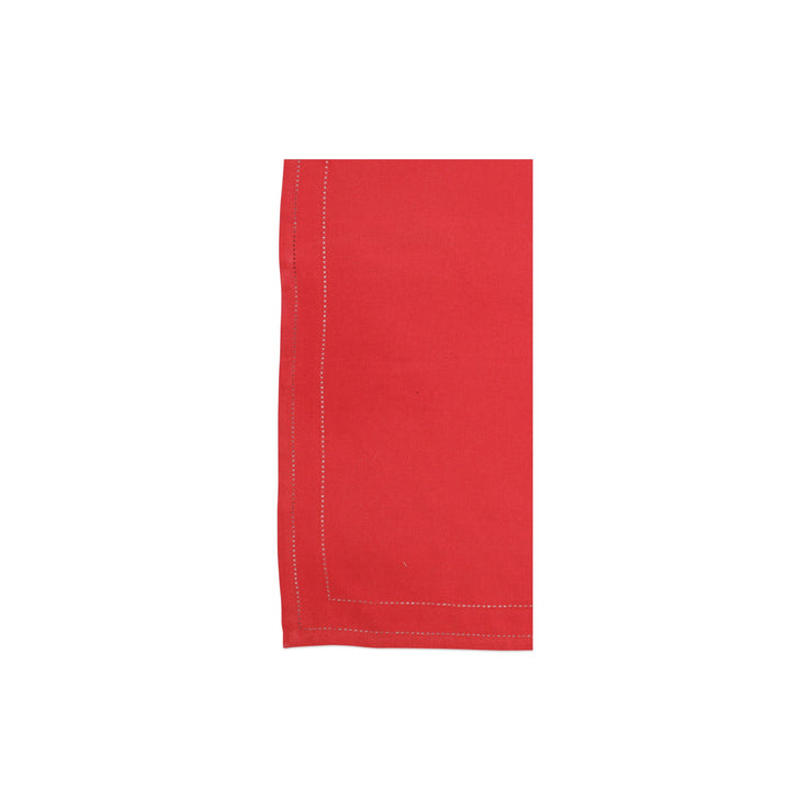 Cotone Linens Red Napkins with Double Stitching by VIETRI