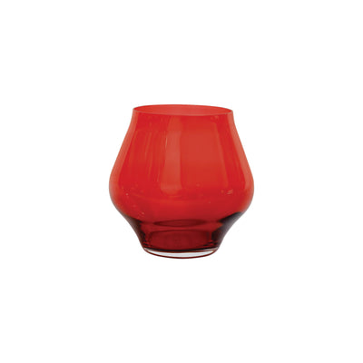Contessa Red Stemless Wine Glass by VIETRI