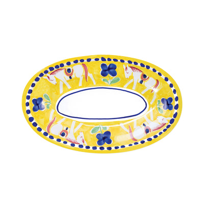 Campagna Cavallo Small Oval Tray by VIETRI
