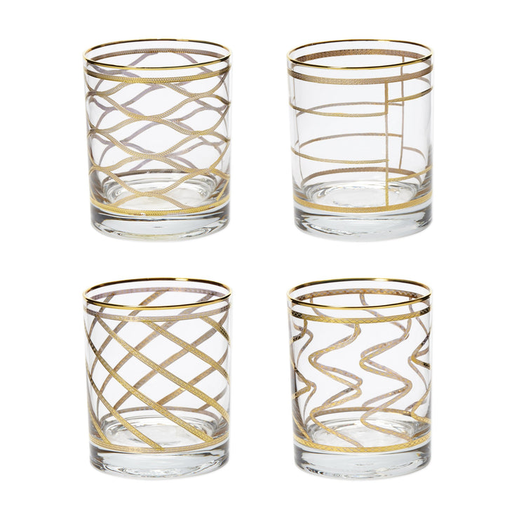 Elegante Assorted Double Old Fashioned - Set of 4 by VIETRI