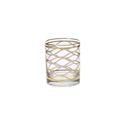 Elegante Net Double Old Fashioned Glasses by VIETRI