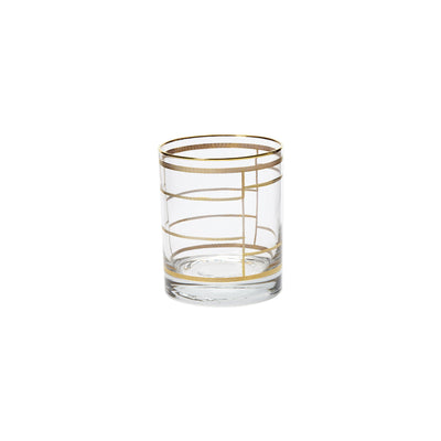Elegante Grid Double Old Fashioned Glasses by VIETRI