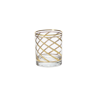 Elegante Lattice Double Old Fashioned Glasses by VIETRI