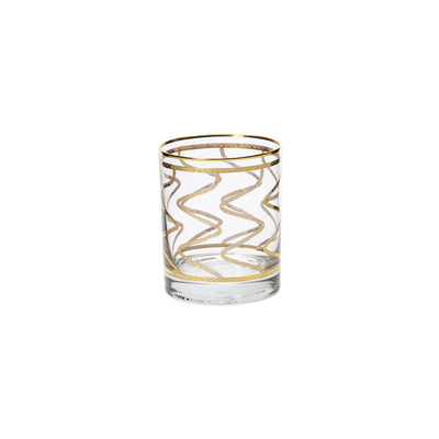 Elegante Swirl Double Old Fashioned Glasses by VIETRI