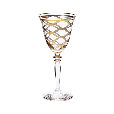 Elegante Net Wine Glasses by VIETRI