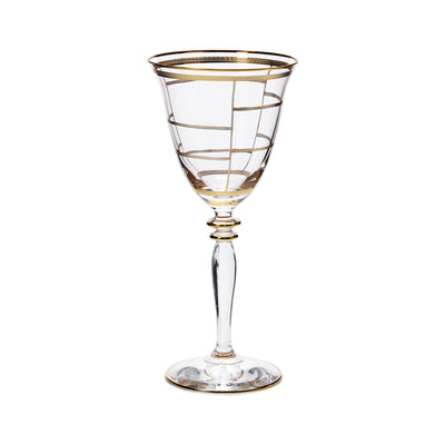 Elegante Grid Wine Glasses by VIETRI