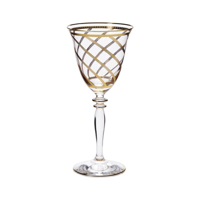 Elegante Lattice Wine Glasses by VIETRI