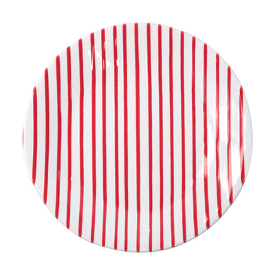 Stripe Red Dinner Plate by VIETRI