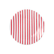 Stripe Red Salad Plate by VIETRI