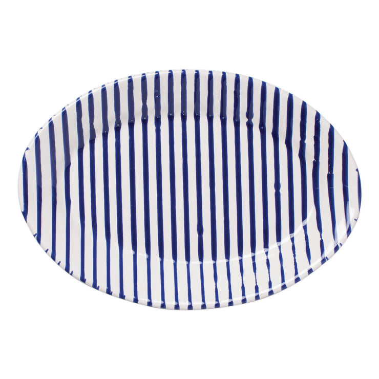 Stripe Small Oval Platter by VIETRI