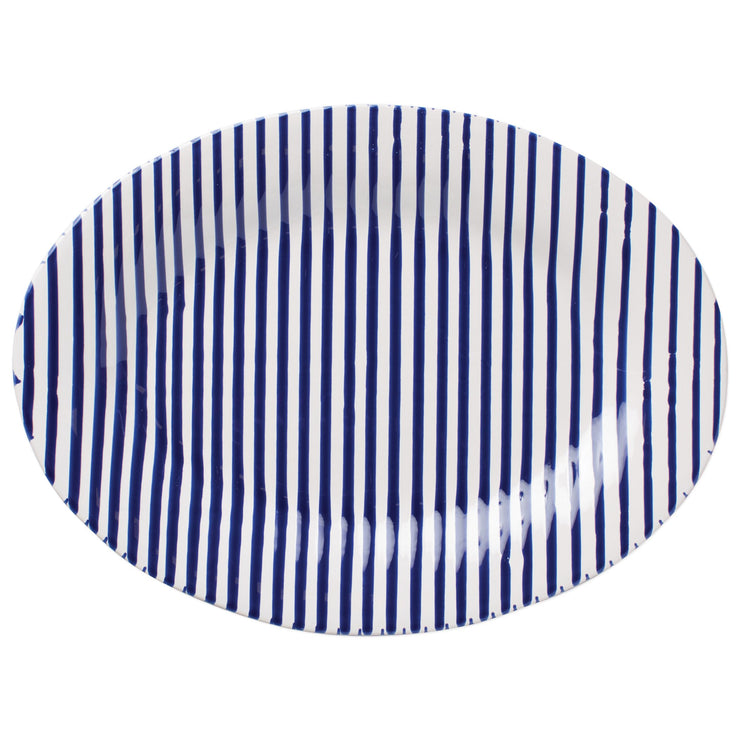 Stripe Medium Oval Platter by VIETRI