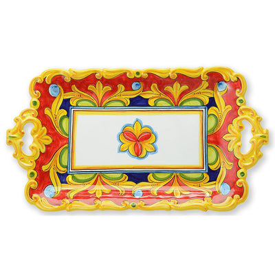 Red Umbria Rectangular Platter