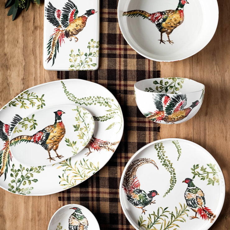 Fauna Pheasants Oval Pasta Bowl
