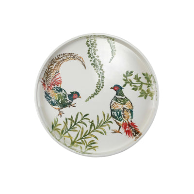 Fauna Pheasants Handled Round Tray by VIETRI