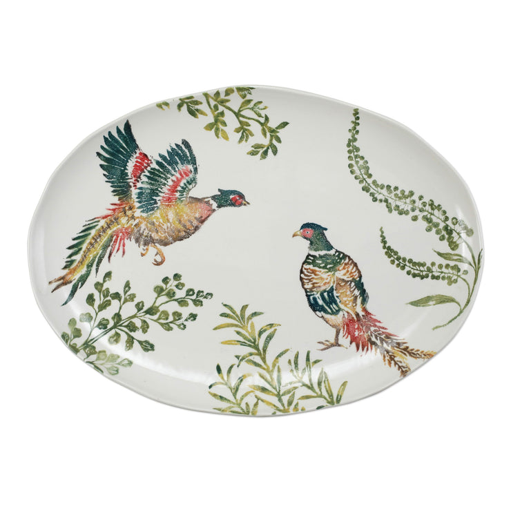 Fauna Pheasants Large Oval Platter by VIETRI