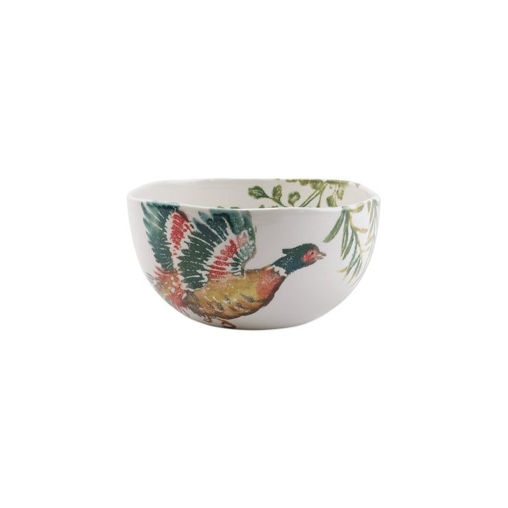Fauna Pheasants Deep Serving Bowl by VIETRI