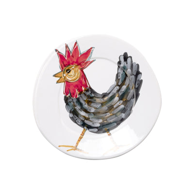 Fortunata Rooster Salad Plate by VIETRI