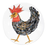 Fortunata Rooster Large Shallow Bowl