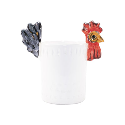 Fortunata Rooster Figural Utensil Holder by VIETRI