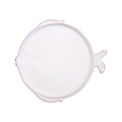 Lastra Fish White Salad Plate by VIETRI