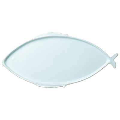 Lastra Fish Aqua Large Oval Platter by VIETRI