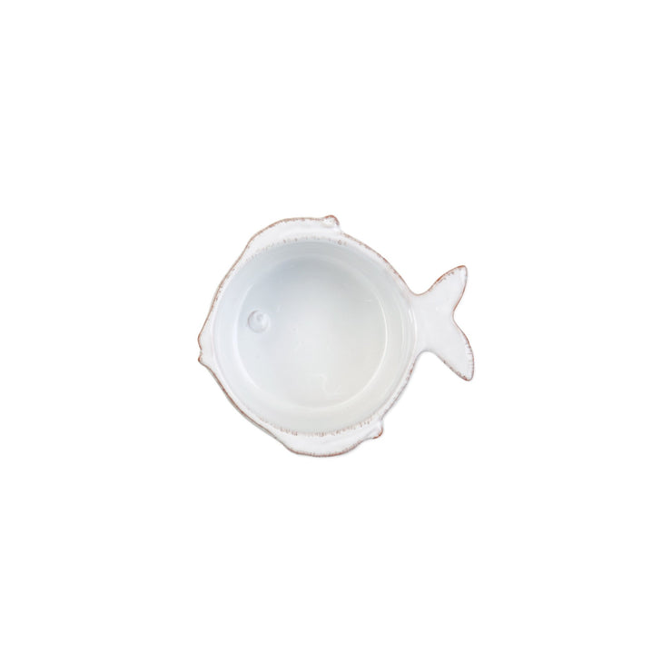 Lastra Fish White Condiment Bowl by VIETRI