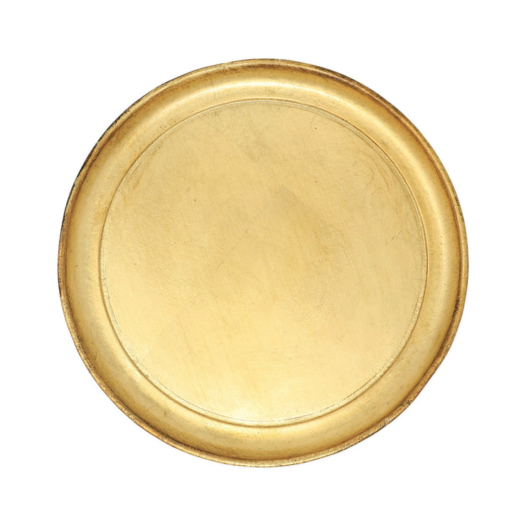 Florentine Wooden Accessories Small Round Tray by VIETRI