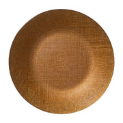 Glitter Glass Copper Service Plate/Charger by VIETRI