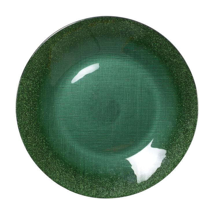 Glitter Glass Emerald Service Plate/Charger by VIETRI