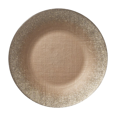 Glitter Glass Ginger Service Plate/Charger by VIETRI