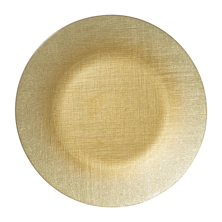 Glitter Glass Gold Service Plate/Charger by VIETRI